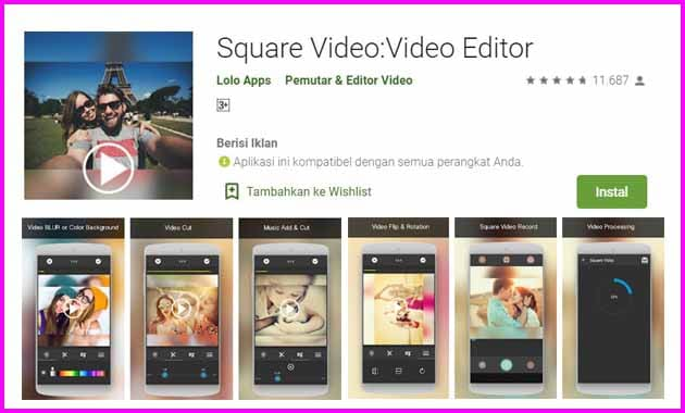 Mengenal Aplikasi Video Bokeh Square Video